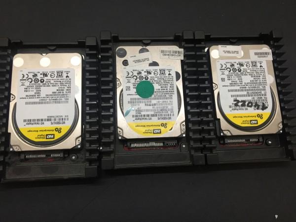 """3 Stück Western Digital VelociRaptor Festplatten 2x 160GB und 1x150GB SATA 3.5"""""""